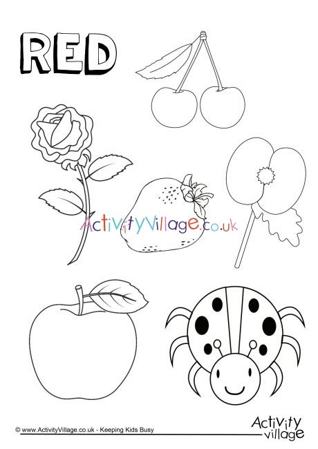 red  colouring page
