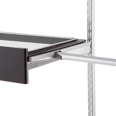 closet bar holder platinum elfa bracket cover closet rod holder the