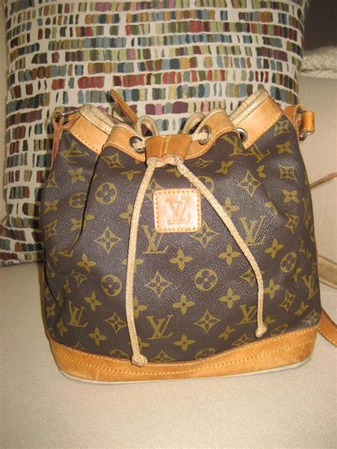 vintage louis vuitton noe bucket tote canvas monogram large