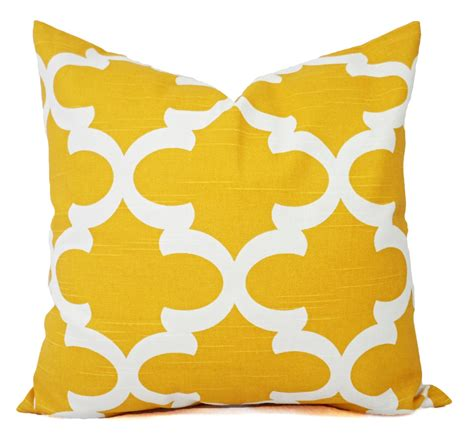 sham inserts yellow decorative pillows two yellow throw pillow covers