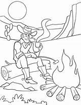 Campfire Coloring Getcolorings sketch template