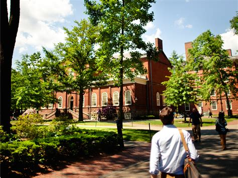 Harvard University Campus Students