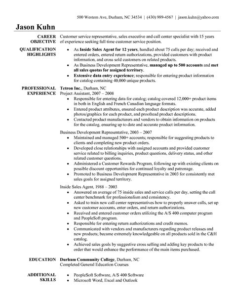 Customer Service Tasks For Resume by Patient Service Representative Resume Template