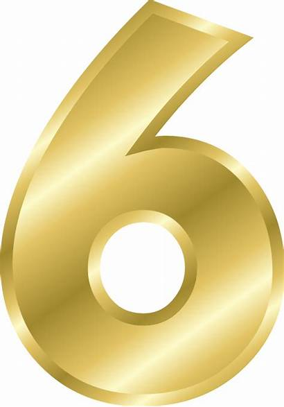 Number Clipart Gold Numbers Pixabay Alphabet Numerology