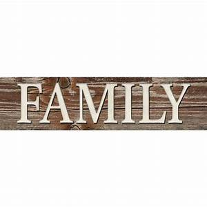 shop 31 in w x 8 in h frameless mdf inspirational family With kitchen cabinets lowes with family word wall art