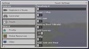 settings minecraft bedrock wiki fandom