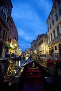 Gondola Ride Venice Italy at Night