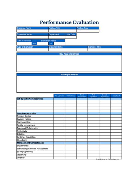 feedback forms for employees 46 employee evaluation forms performance review examples