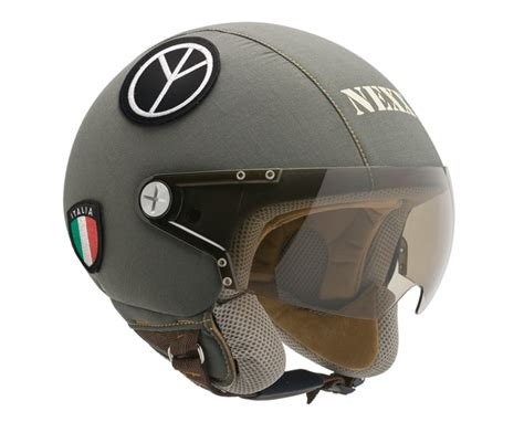 Military Style Motorcycle Helmets Are Used By People