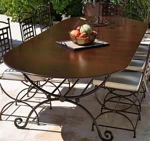 Table Fer Forgé Jardin : table fer forge exterieur ~ Teatrodelosmanantiales.com Idées de Décoration