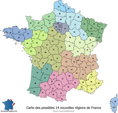 Carte De Region Et Departement Vierge by Carte De Avec R 233 Gions Et D 233 Partements 224 Imprimer