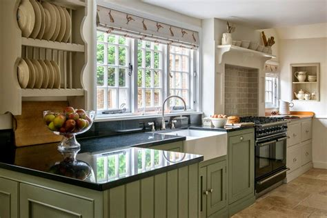 Long Kitchen Curtains Modern Country Style Modern Country Kitchen And Colour Scheme