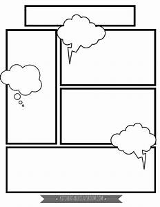 Comic Book Templates - Free Printable Pages - The Kitchen ...
