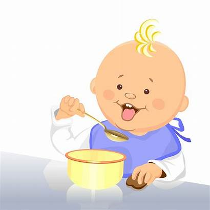 Clipart Spoon Eat Eats Bambino Mangia Cucchiaio