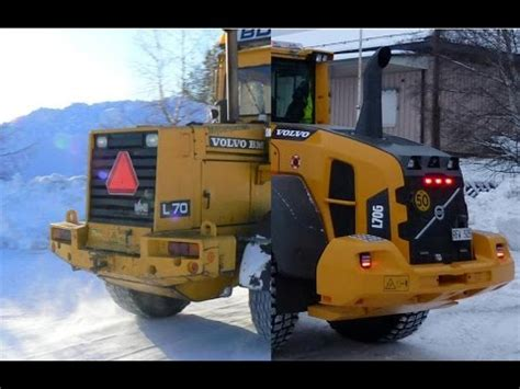 7 generations volvo l70 wheel loaders in snow clearing