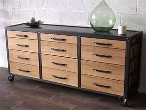Buffet Metal Et Bois : meubles et rangements meuble de rangement industriel bois 4367069 meublesindustriment abc71 big ~ Melissatoandfro.com Idées de Décoration