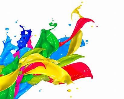 Splash Paint Spray Acrylic Drops Colors Wallpapers