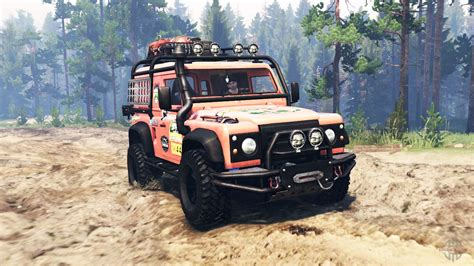 land rover defender   spin tires