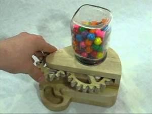 Wooden Gumball Machine - YouTube
