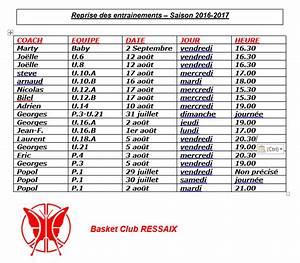 Date Reprise Serie : reprise des entrainements saison 2016 2017 bcj ressaix ~ Maxctalentgroup.com Avis de Voitures