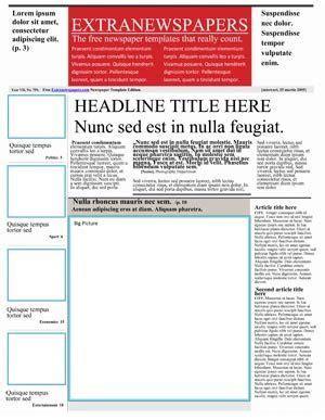 google docs newspaper  newsletter template
