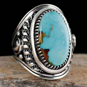 Navajo Turquoise Ring Diamond Wedding Jewelry Sight