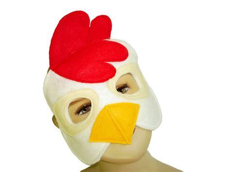 childrens farm barnyard animal chicken felt mask