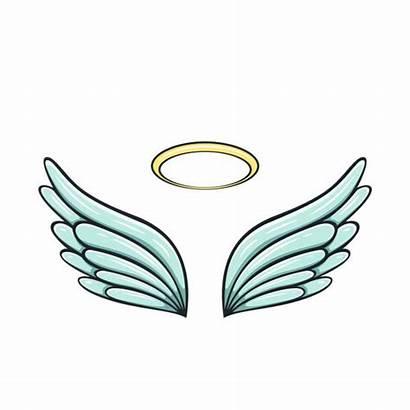 Wings Angel Halo Cartoon Tattoo Vector Clip