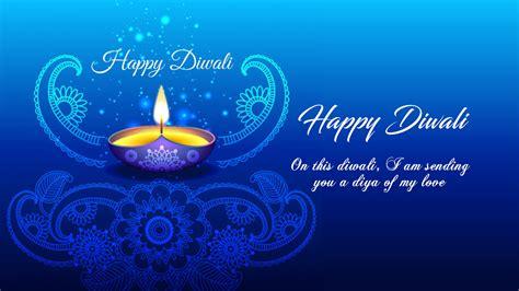 happy diwali   wishes greeting card blue