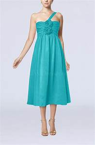 teal casual one shoulder sleeveless chiffon pleated With teal dresses for wedding guest