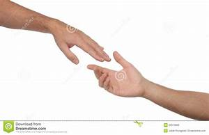 Two Male Hands Reaching Towards Each Other Stock Photo ...