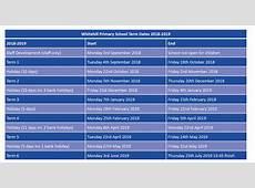 Term Dates Whitehill Primary School