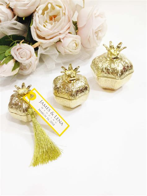 elegant wedding favors box idea favor box pomegranate unique