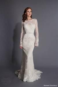 Modern trousseau spring 2016 wedding dresses wedding for Modern long sleeve wedding dresses