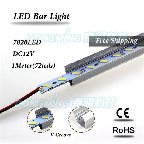 5pcs smd7020 led bar light 12 volt rigid aluminum led