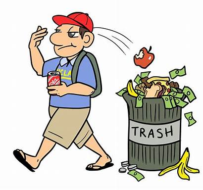 Throwing Garbage Clipart Anywhere Waste Reducing Dining