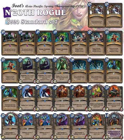 hearthstone deck list 17 best ideas about hearthstone rogue on rogue