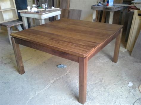 Square Walnut Table Dining Table  Contemporary Dining