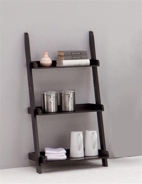 leitern black  tiered ladder shelf bookcase display unit