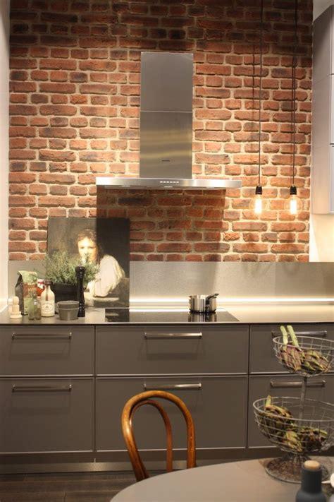 exposed brick backsplash kitchen new kitchen backsplash ideas feature storage and dramatic 7103