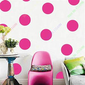pink circle wallpaper reviews online shopping pink With what kind of paint to use on kitchen cabinets for colored circle stickers