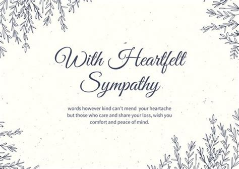 condolences greeting card templates sympathy card template invitation template