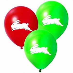 Balloons - NRL South Sydney Rabbitohs 25 pk Decorations
