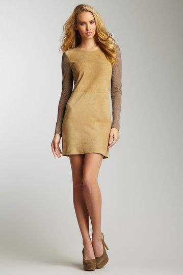 rebecca taylor knit suede combo dress  hautelook