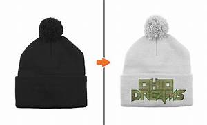 photoshop hat mockup template pack With beanie design template
