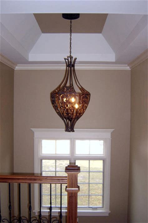 Staircase Light Fixture  Traditional  Hall  Chicago