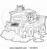 Snow Plow Coloring Pages Truck Clipart Driver Plough Waving Illustration Outlined Happy Royalty Visekart Vector Printable Getcolorings Circle Retro sketch template