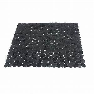 tapis antiderapant gris pour douche stone sensea leroy With tapis antidérapant douche italienne
