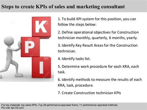 marketing consultant sales and marketing consultant kpis