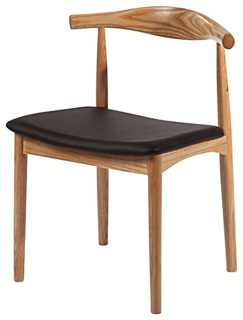 solid wood mid century style accent dining chair